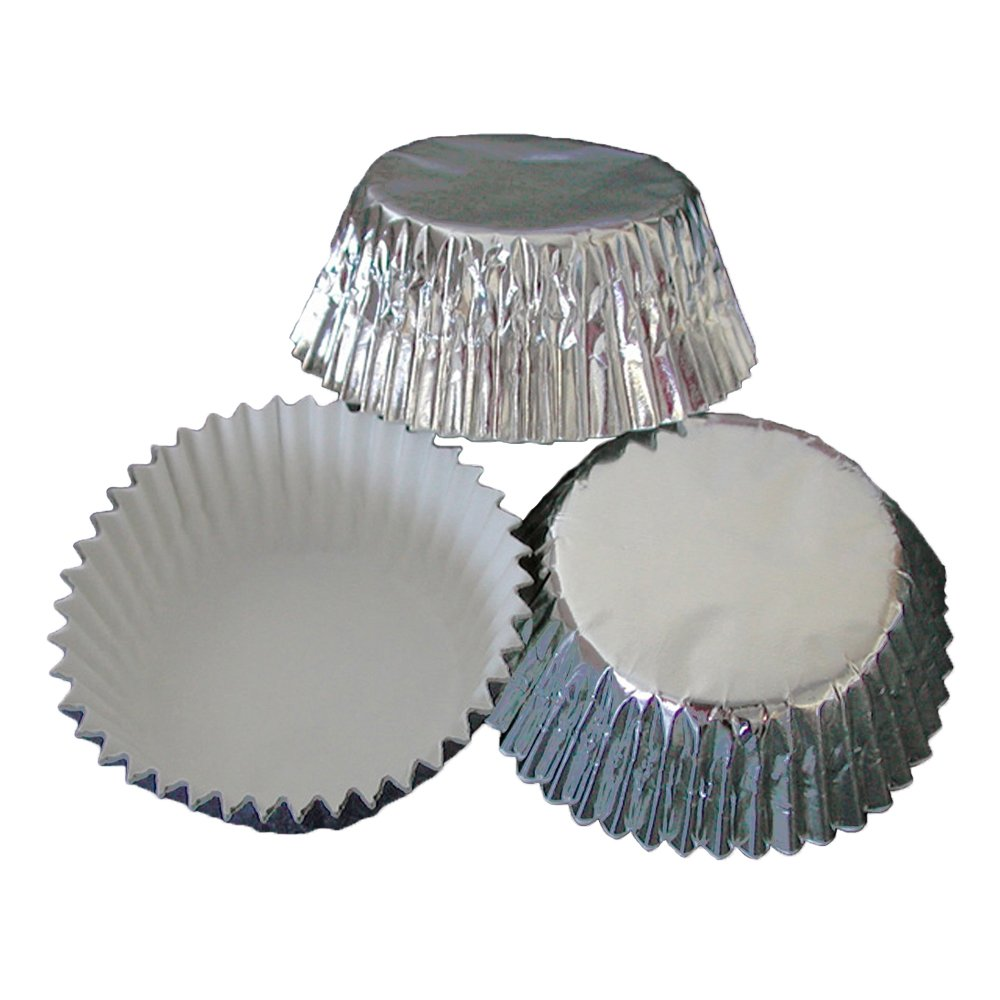 Hoffmaster BL200-4-1/2SFSP Foil Bake Cup, 2-Ounce Capacity, 4-1/2'' Diameter x 1-1/4'' Height, Silver (4 Packs of 500)