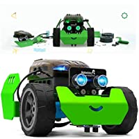 STEM Robot Kit - DIY Mechanical Building Robotic Coding Kit with Remote Control for Kids Teens, Robobloq Q-Scout Educational Toy for Programming and Learning How to Code (Basic Version, 65pcs)
