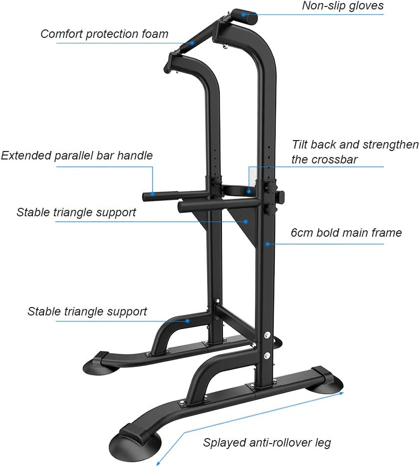 SogesGame Power Tower Adjustable Height Workout Pull Up /& Dip Station Multi-Function Home Gym Strength Training Fitness Equipment,PSBB005-S8-CA