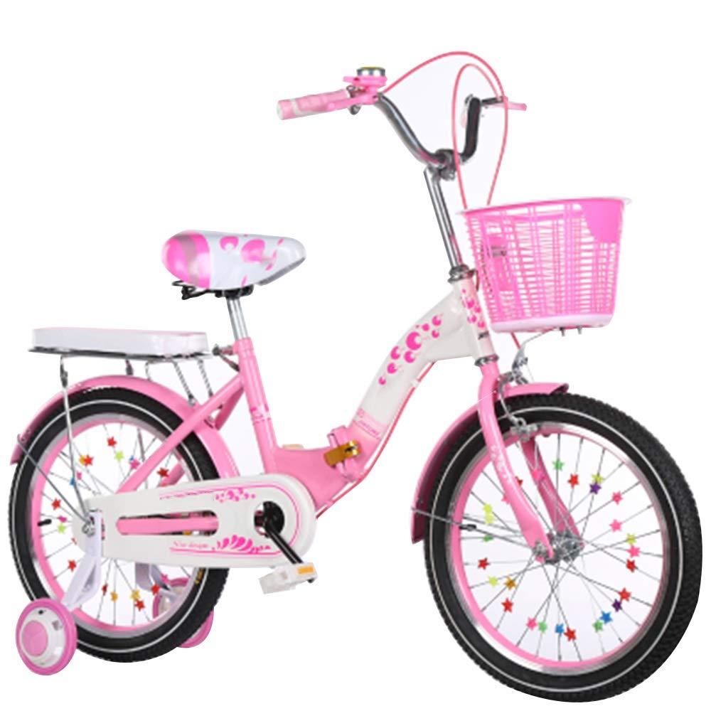 rose 20in Axdwfd Vélos Enfants Bicyclettes pour Enfants avec Roues de Formation pour garçons et Filles de 16 18 20 Pouces, adaptées aux Enfants de 4 à 11 Ans Rose Pourpre