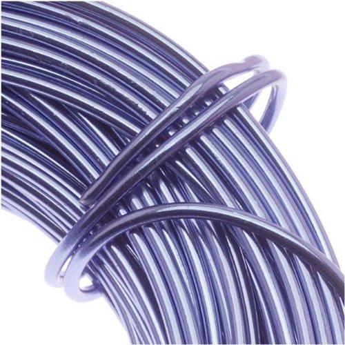 Beadsmith Aluminum Craft Wire Lilac Purple 12 Gauge 39 Feet (11.8 Meters)