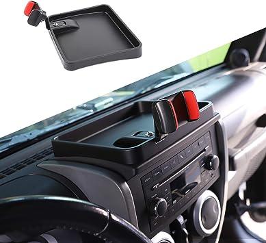 JeCar for JK Storage Tray Auto Gear Shift Storage Box Center Console Side Pocket Organizer for 2007-2010 Jeep Wrangler JK JKU