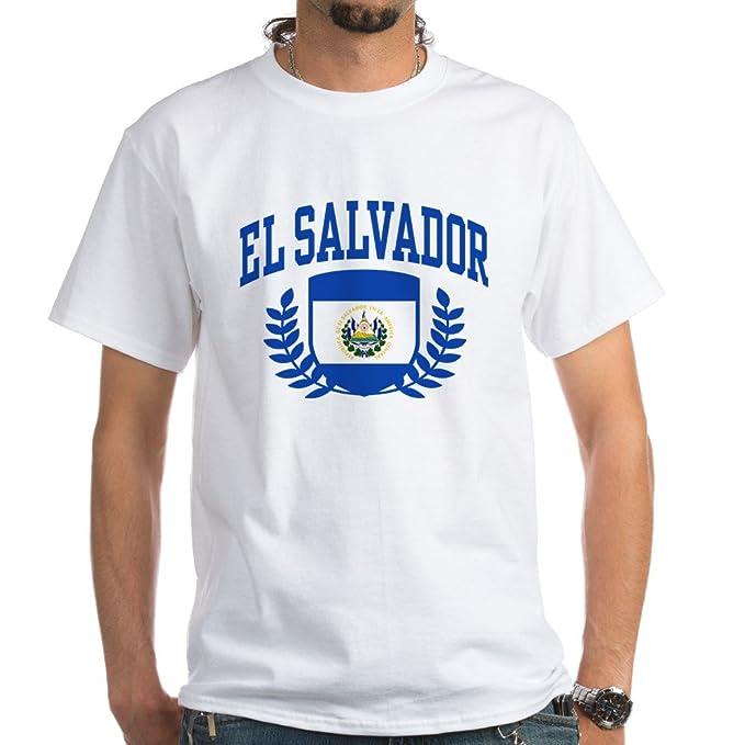 c66101636 Amazon.com  CafePress El Salvador White T-Shirt Cotton T-Shirt  Clothing