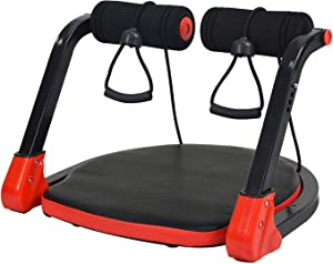 Abdominal Core Machine with Resistance Straps,Exercise Crunch Roller Workout,Fitness abs Exercise Equipment,Total Body Workout Home Gym For All Ages,Abdominal Training Machine For Workout Weight Loss