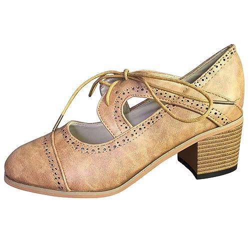 Sandalias para Mujer, Beladla Calzado Chancletas Tacones Zapatos Planos Shoes De Verano para Mujer CuñA con Cordones Alpargatas Fiesta Zapatos: Amazon.es: ...