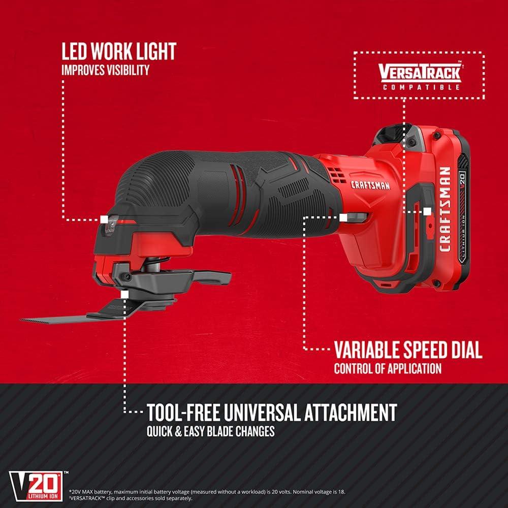 Craftsman V20 Oscillating Tool Cordless Kit