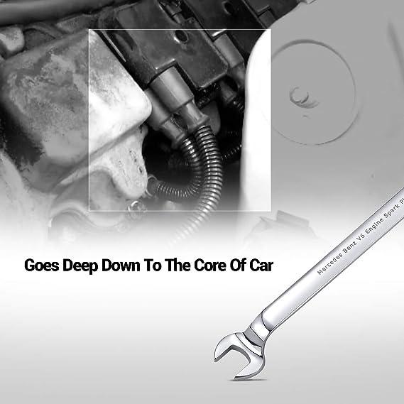 EWK Mercedes Benz V6 alambre de bujías Remover instalador herramienta de llave 17 mm: Amazon.es: Coche y moto