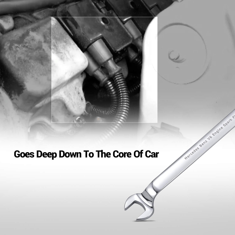 EWK 17mm Spark Plug Wrench Tool Remover Installer for Mercedes Benz V6 V8 by EWK (Image #2)
