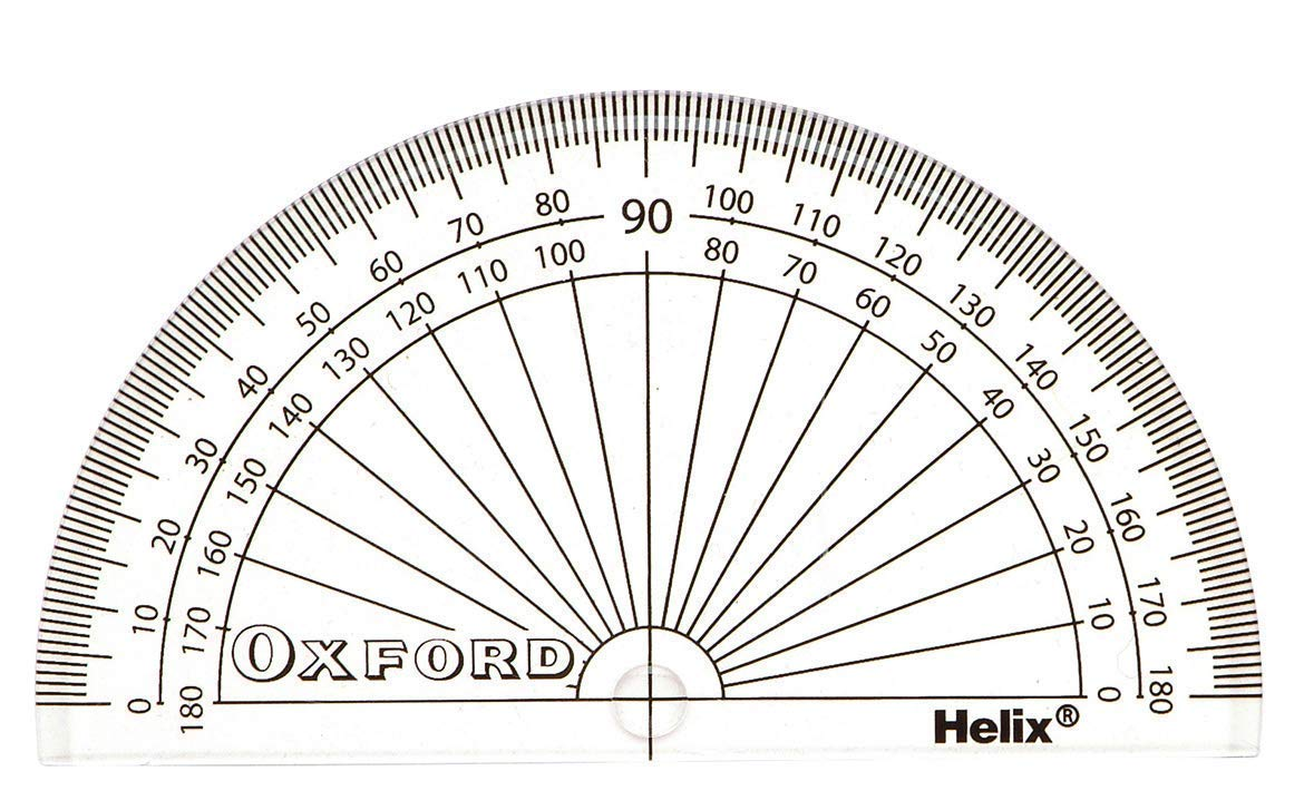 2xOxford 10cm 180 Degree Protractor