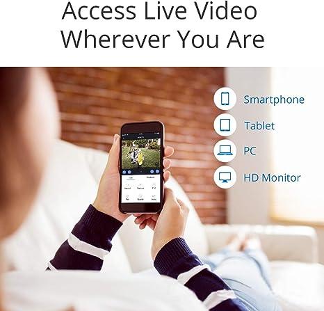 Fernzugriff CAMSTRO 5MP /Überwachungskamera Set Kamera Set mit 5-in-1 5MP DVR,5MP Kamera und 1T Festplatt,IR Nachtsicht
