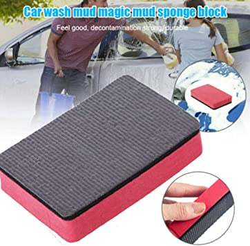 Car Mud Magic Clay Bar Sponge Block Pad Remove Contaminants Before Polisher Wax
