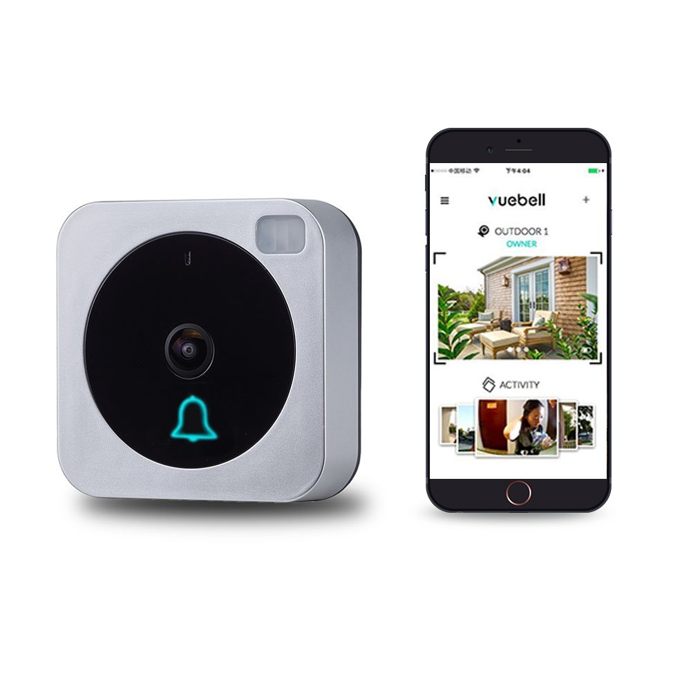 NETVUE WiFi Video Doorbell, Compatible with Alexa Echo Show, Vuebell Doorbell Camera 720P HD Cam, Cloud Storage, Two-Way Audio, Motion Detection, Infrared Night Vision AC 9-24V DC 9-36V