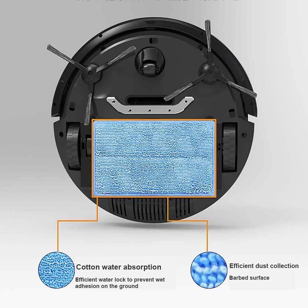 Robot Aspirateur, Nettoyeur Balayer Robot Aspirateur automatique de balayage Nettoyage 1000Pa aspiration Robot Balayer, Noir ggsm (Color : White) Black