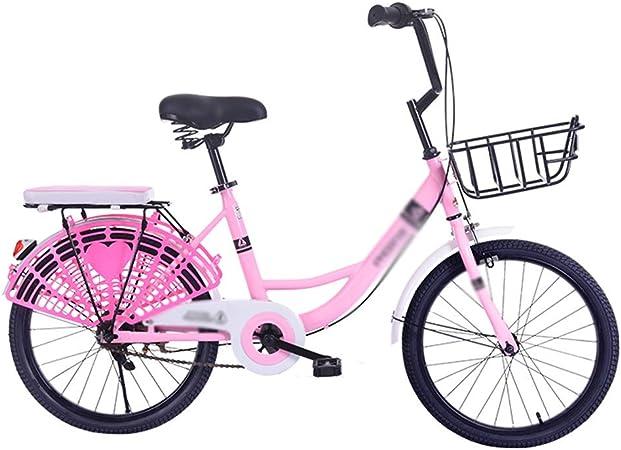 Paseo Bicicleta Peso Ligero Bicicleta para Niños Y Niñas Velocidad Única Ciclismo (Color : Pink, Size : 16inch): Amazon.es: Hogar