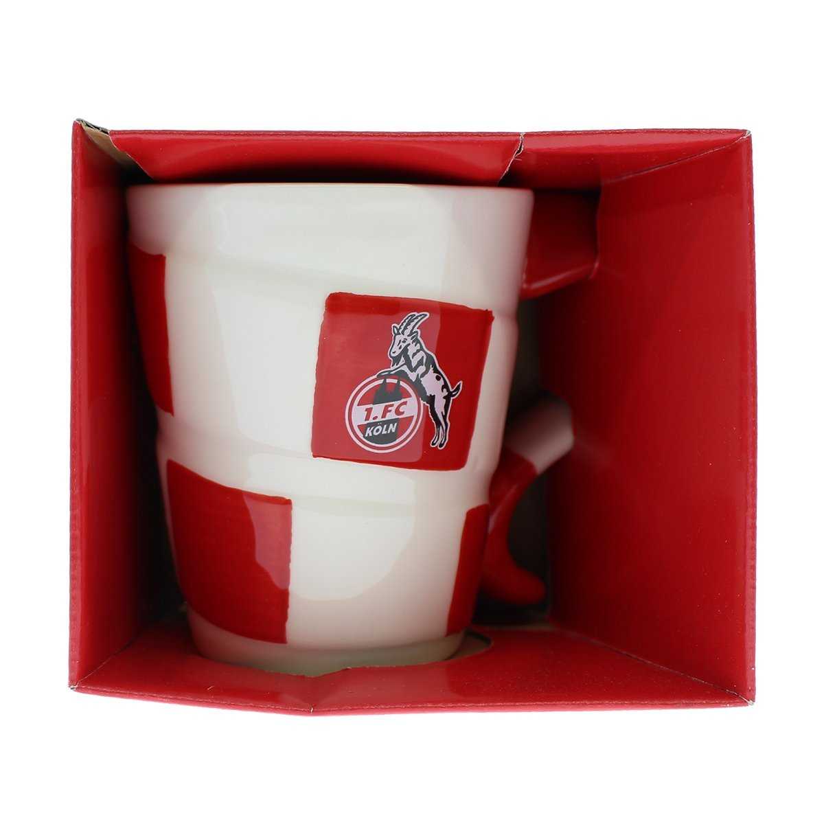 1. FC Köln Tasse Schal Hauptfarbe Weiss