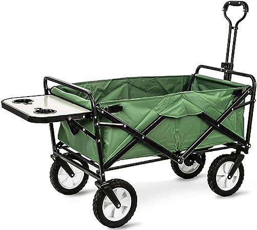 GARDEN CAR ZLMI Carro de jardín Camping Pet remolques Plegable portátil de Gran Capacidad de Compras de comestibles Peso 80Kg (con Tabla),D: Amazon.es: Hogar