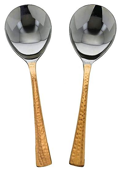 Amazon Com Serving Spoon Sets Large Spoon Tabletop Flatware