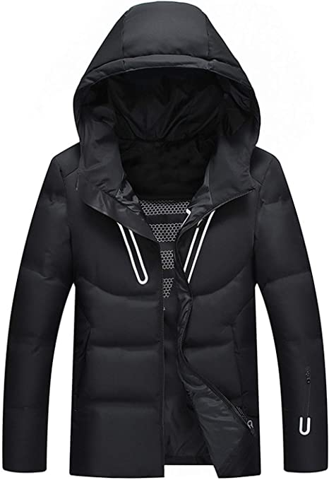 epjies New Winter Men Down Jacket Down Jacket and Coats Thick Parka Mens Outwear Down Jacket Male
