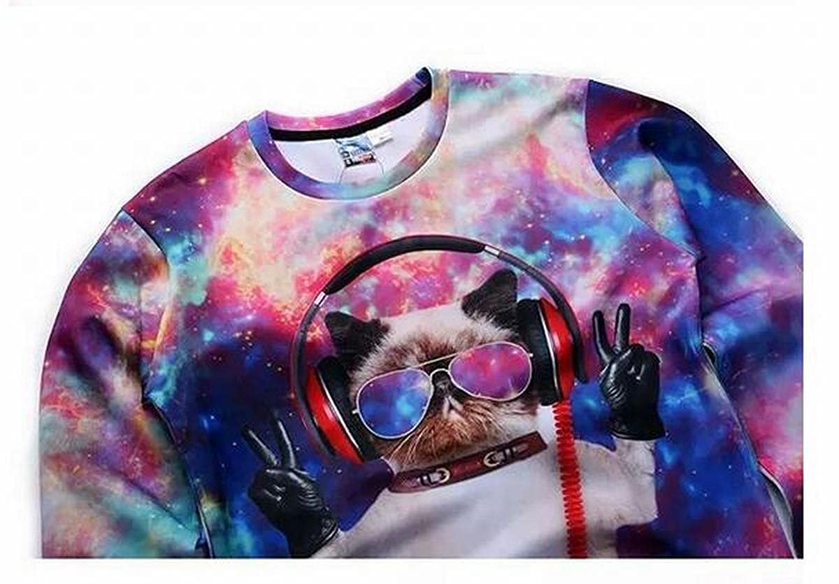 Big Boys 3D Graphic Print Emoji Crew Neck Long Sleeve Shirt Pullover Sweatshirt