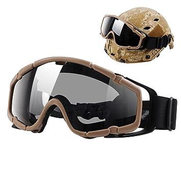 Gafas de casco, gafas de balística táctica de Airsoft gafas de seguridad militar con rieles