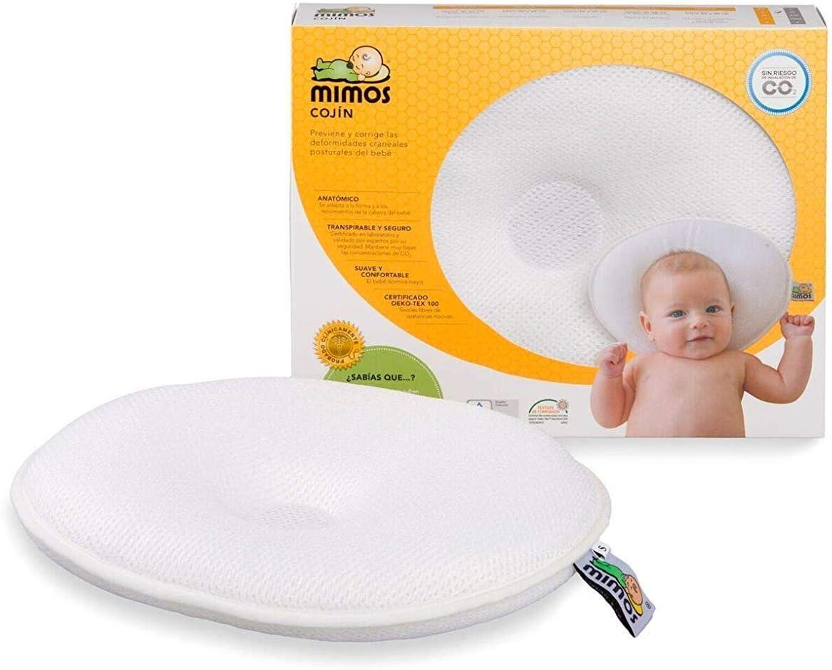 Cojín Mimos® - Prevención y corrección de deformidades craneales posicionales en bebés. (TALLA M)