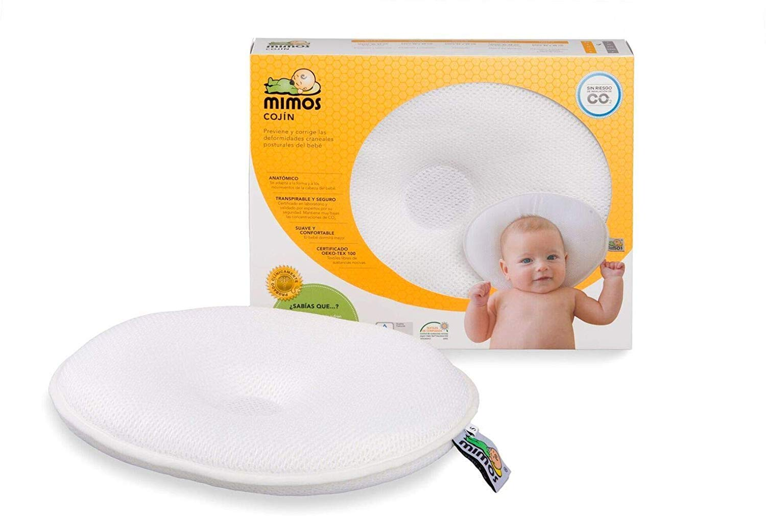 Mimos Baby Pillow New S Air Flow Safety Tuv