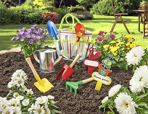 Kinder Gartengeräte Set 9-teilig mit Tasche