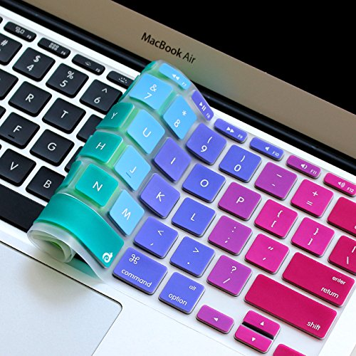 "Masino Silicone Keyboard Cover Ultra Thin Keyboard Skin for MacBook Air 11"" (Rainbow Gradient)"