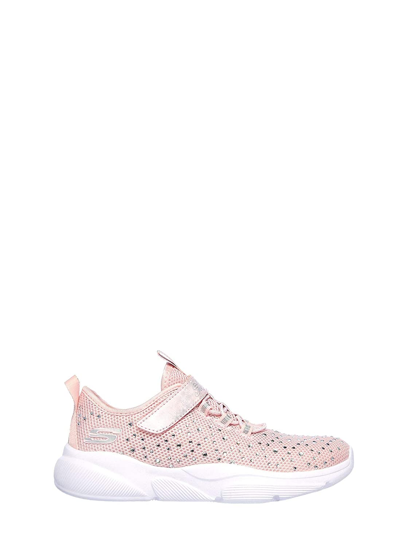 Skechers Kids Girls Meridian-Best Intent Sneaker Light Pink 1 Medium US Little Kid