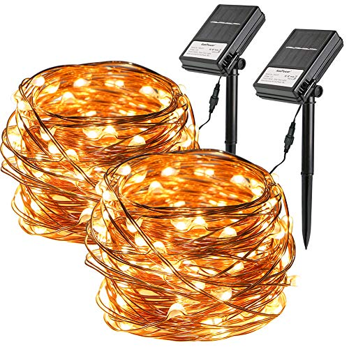 Solar String Lights Clear Wire