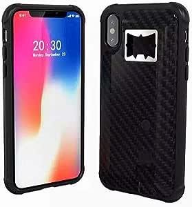 محفظة لهواتف الايفون اكس أس ماكس مع ولاعة و فتاحة علب المشروبات الغازية - أسود