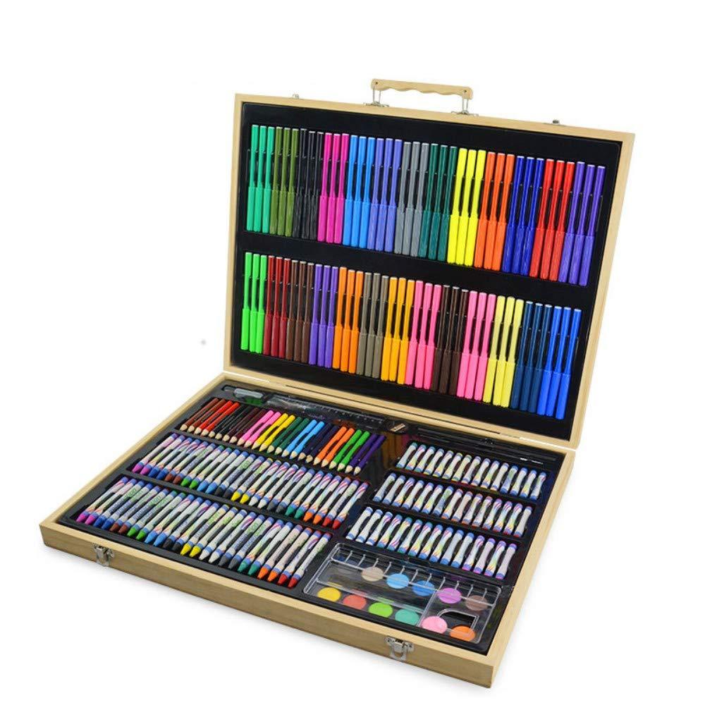 213 Pezzi Deluxe Art Set, Disegno Pittura in Legno