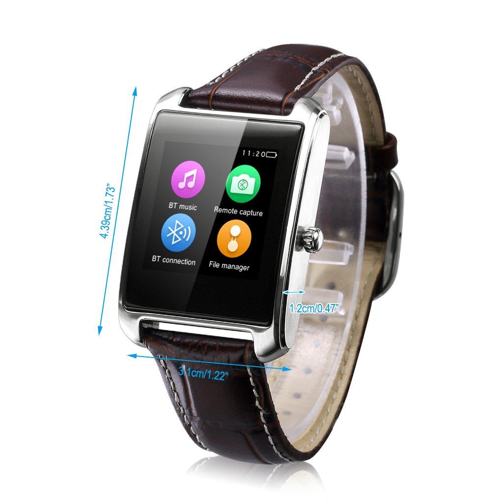 Zeblaze Miniwear - Impermeable Ajustable Smartwatch Reloj Android Ios Bluetooth (Ritmo Cardíaco, Siri, Antirobo, Podómetro, Monitor de Sueño), ...