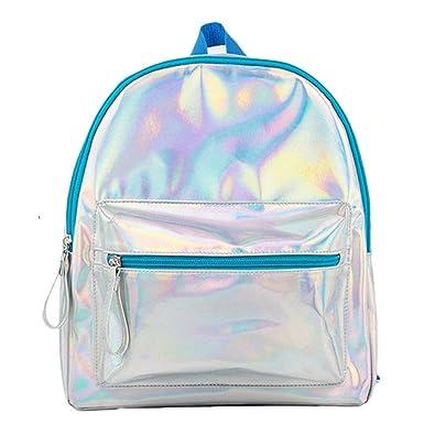 Amazon com: BAG WIZARD Holographic Laser Mini Backpack Iridescent