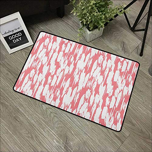 Abstract Pet Doormat Hipster Style Inspirations Brush Stroke Stripes Watercolor Paint Smears Vintage Easy Clean Rugs 20