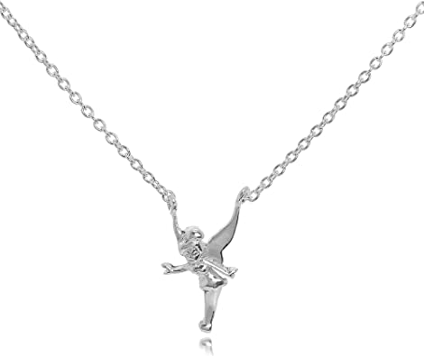 CHILDREN/'s Girls kids Jewellery Tinkerbell Fairy Necklace Sterling Silver Chain