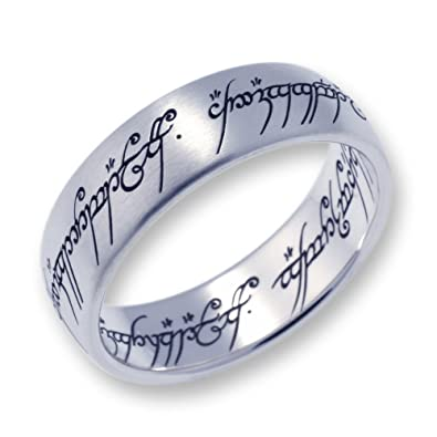 Lord of the Rings Titanium The one Ring Amazoncouk Jewellery
