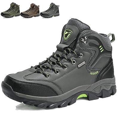 KAMIXIN Scarpe da Escursionismo Uomo Donna Stivali da Escursionismo Alti Scarpe  da Arrampicata Scarpe da Trekking 05c8fc57cc1