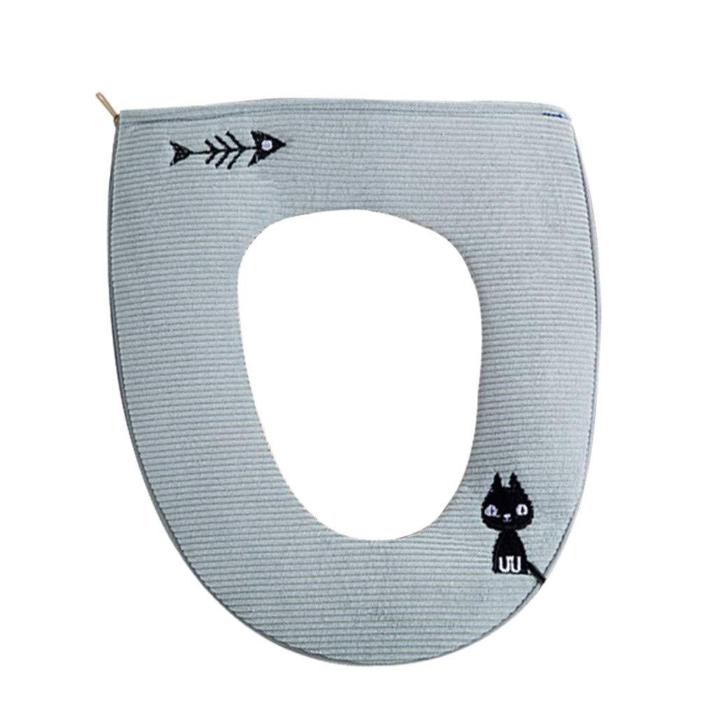 Alimao Bathroom Protector Closestool Soft Warmer All Shape Toilet Cover Seat Lid Pad Green
