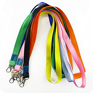 Honbay Assorted Colors Long Neck Strap Band Lanyard With Swivel Clasp for ID Cards, Badges, Keys, Employees, Students, Visitors, Badge Name Tag Holders and More, Pack of 30