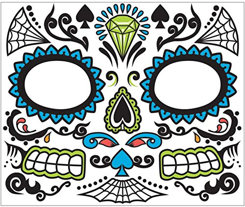 Catrina Makeup And Costume (Day of the Dead Male Face Tattoo)