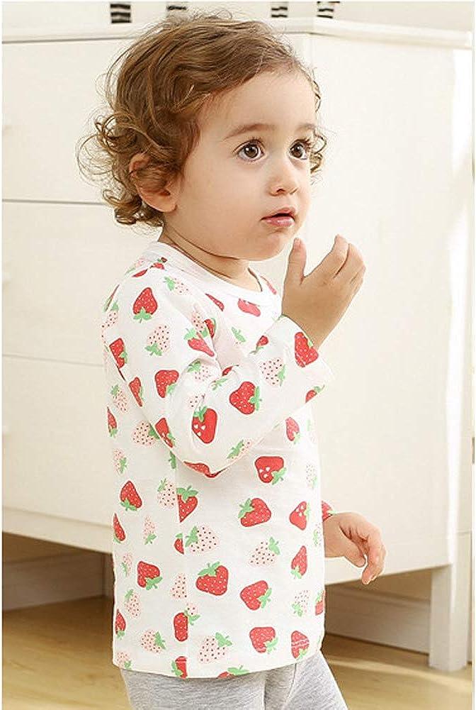JUWEGTTLTY Toddler Girls Long Sleeve Cotton T-Shirts Cute Cartoon T Shirt Crewneck Tops 6 Months-4 Years.