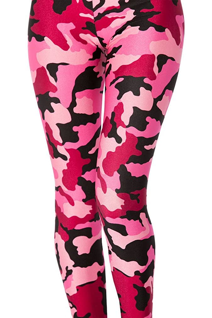 91d2693db4bd4 Maxi Girls BDU Active Camo Military Army Camouflage Print Leggings at  Amazon Women's Clothing store: