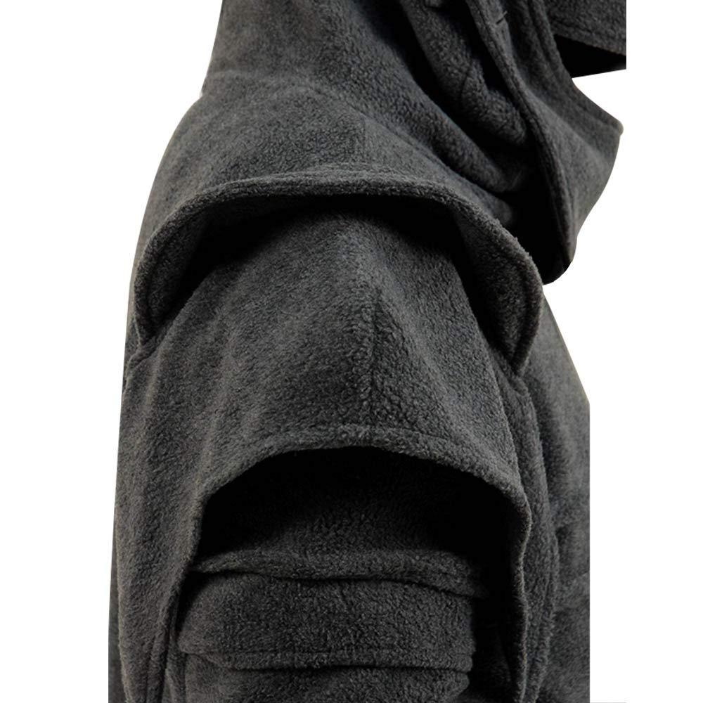 Mens Arthur Knight Hoodie Medieval Armor Sweatshirt Hooded Jacket Coat