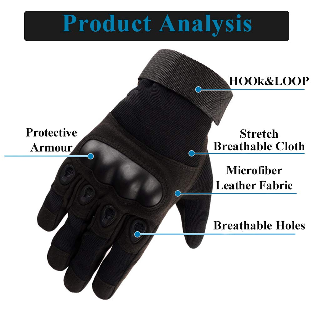 LucaSng universal breathable non-slip outdoor sports motorcycle gloves XL