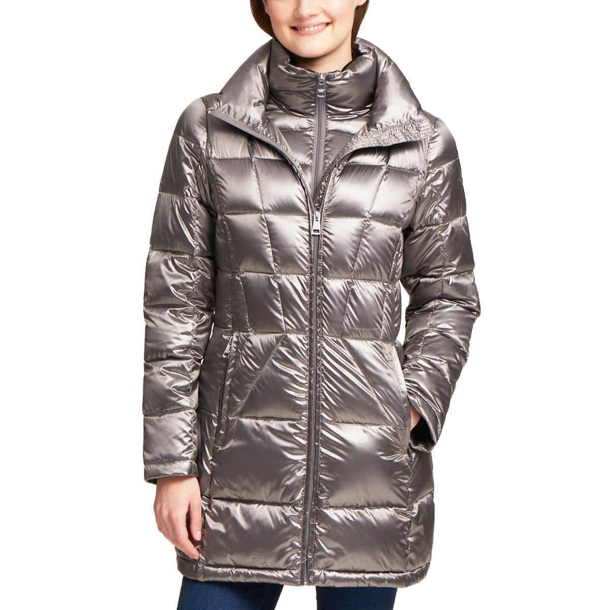 Andrew Marc Ladies' Packable Down Jacket (Gray, XXL)