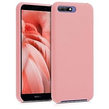 kwmobile Funda para Huawei Y6 (2018) - Carcasa de [TPU] para teléfono móvil - Cover [Trasero] en [Rosa Oro Mate]