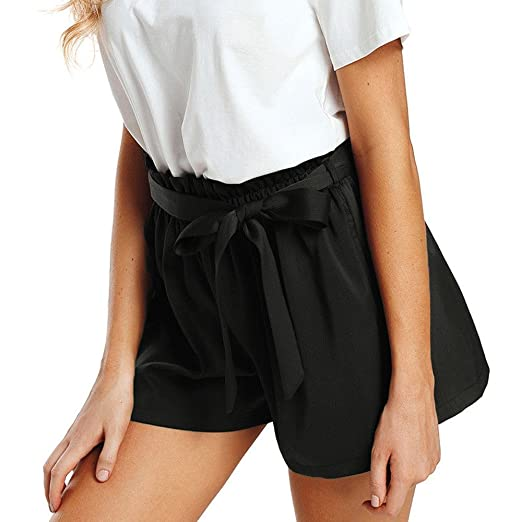a418dc03dd42 JJLIKER Summer Loose Shorts High Waist Wide Leg Pants Belt Women Beach  Seaside Summer Fashion Casual