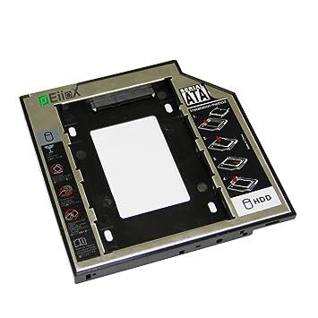 EiioX - Adaptador de disco duro universal SATA caddy para ordenador portátil, HDD/SSD para CD/DVD-ROM, 12,7 mm: Amazon.es: Electrónica