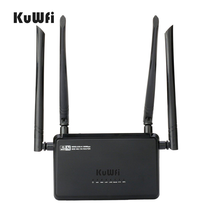 Kuwfi 300mbps Wireless N Access Point Smart Wifi Netis Wf2419e Router Repeater Ap Singnal Extender 4x5dbi High Gain External Antennas